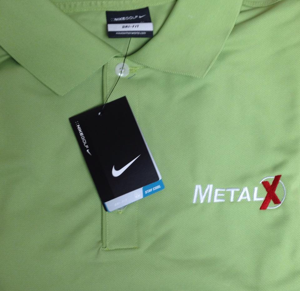 Nike dri-fit shirt with custom embroidery.